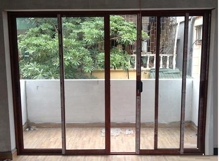 cua di mo truot 4 canh nhom xingfa nk 1 - Báo giá cửa lùa nhôm kính các loại (Xingfa, châu Âu, Việt Pháp)