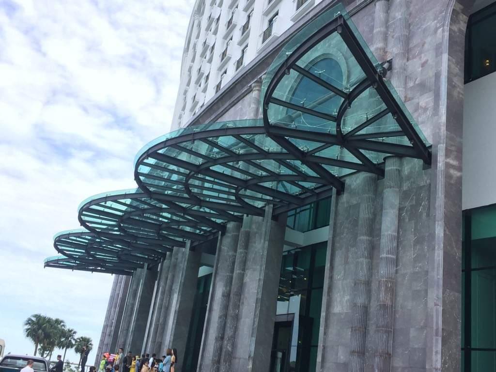 mai kinh - Mái sảnh FLC- công trình FLC Grand Hotel Ha long