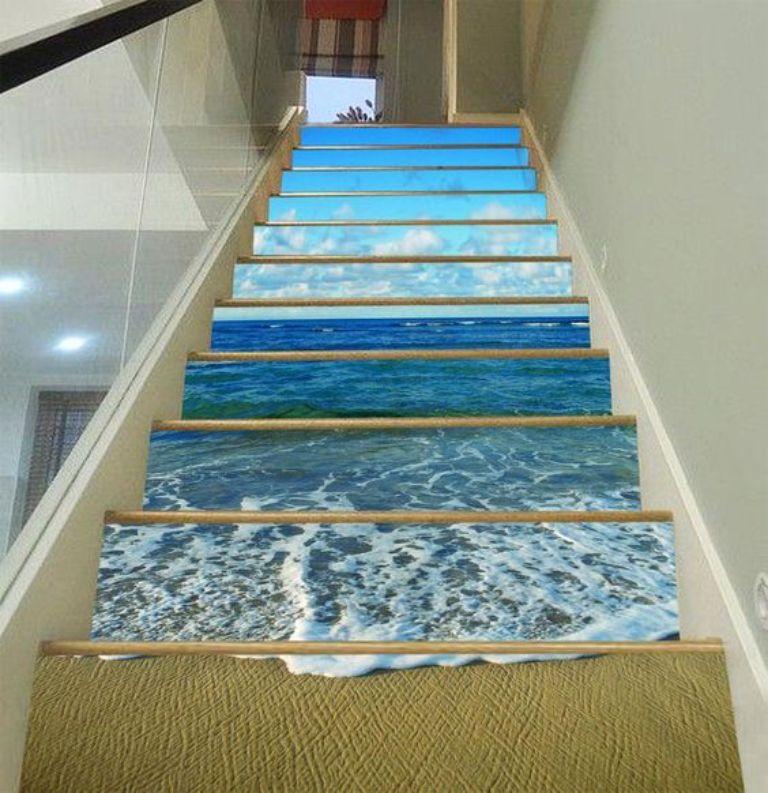 Cầu thang kính 3D