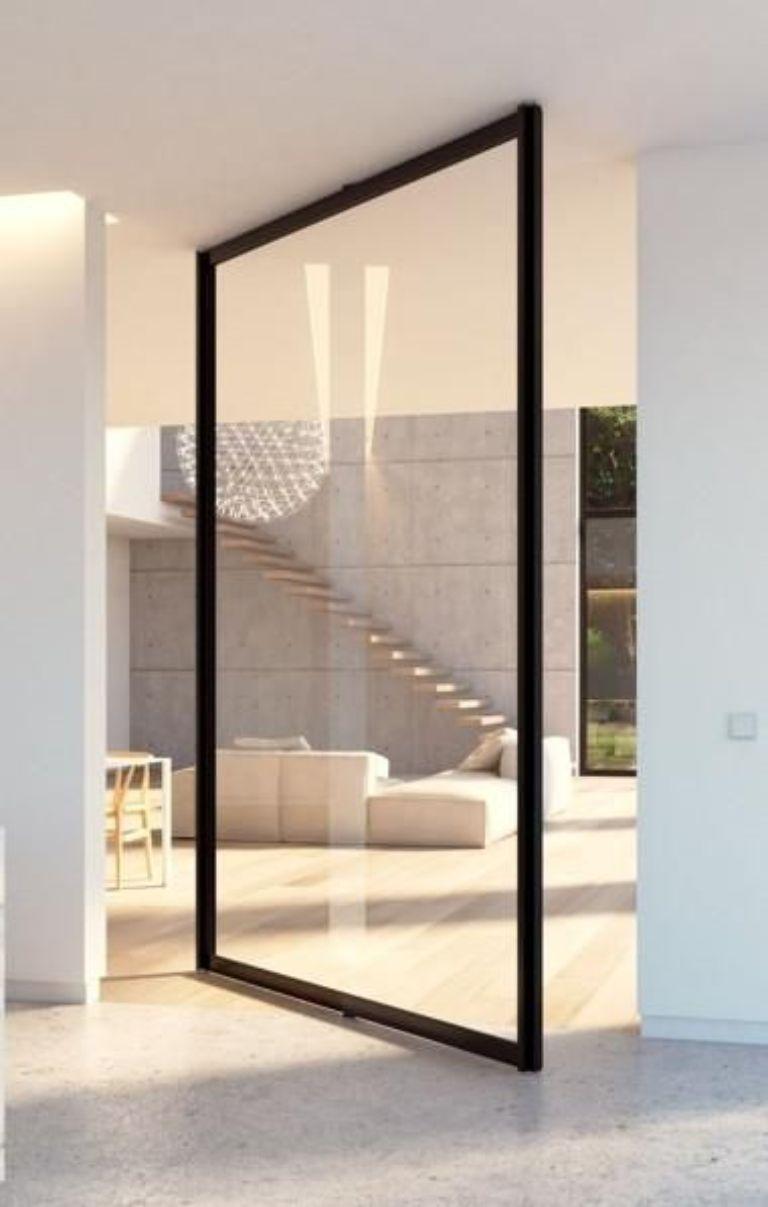 cửa nhôm kính một cánh mở quay