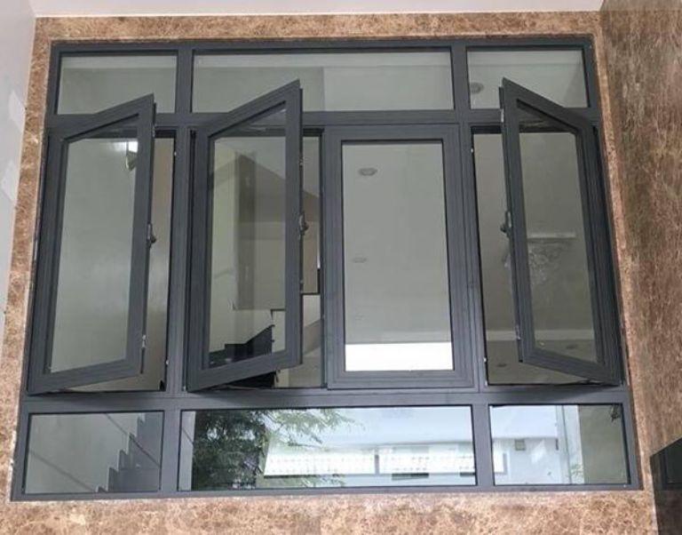 Cửa sổ mở quay khung nhôm Xingfa