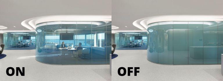 Vách kính thông minh văn phòng