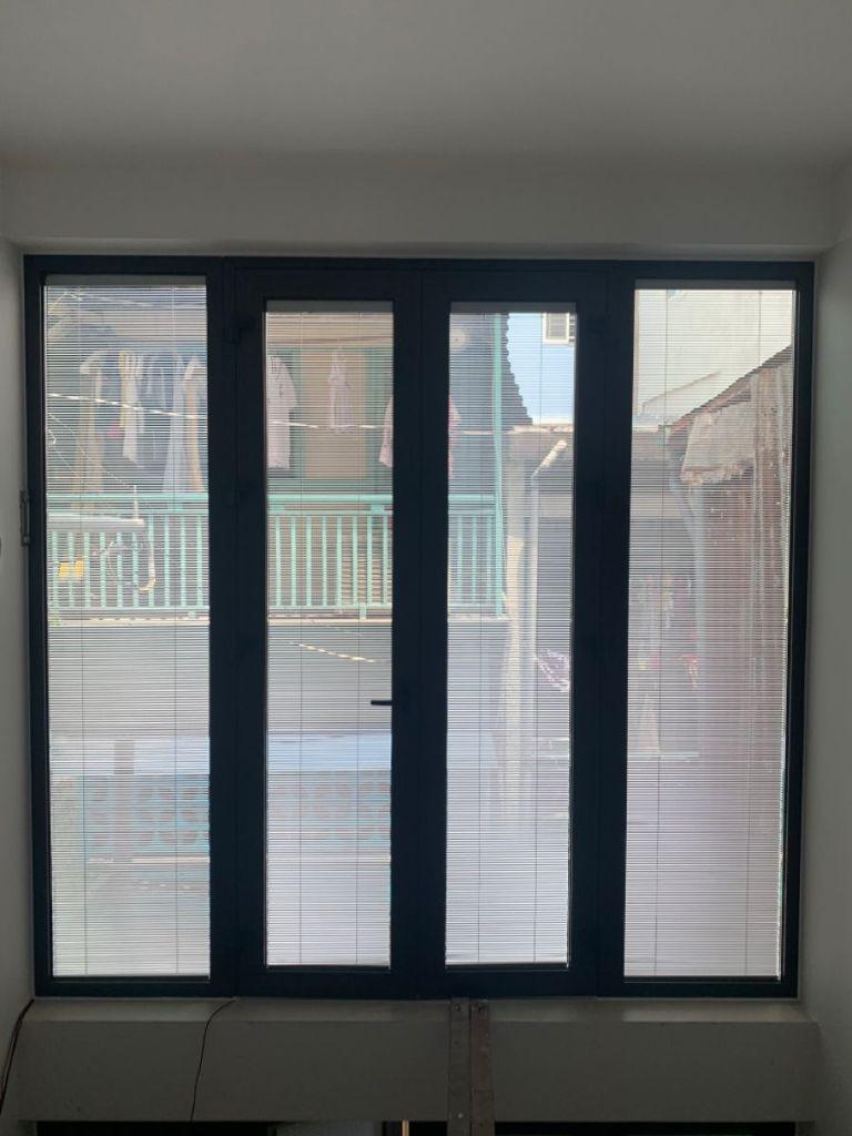 Rèm kính hộp cho cửa sổ 4 cánh