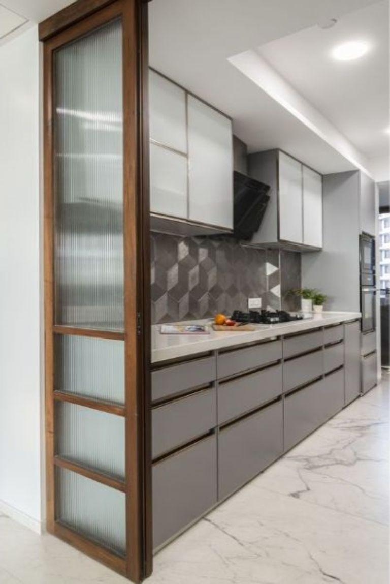 cửa kính cường lực phòng bếp